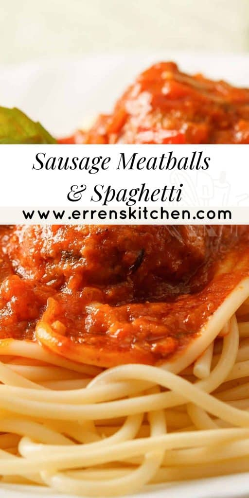 spaghetti and meatballs on a plate