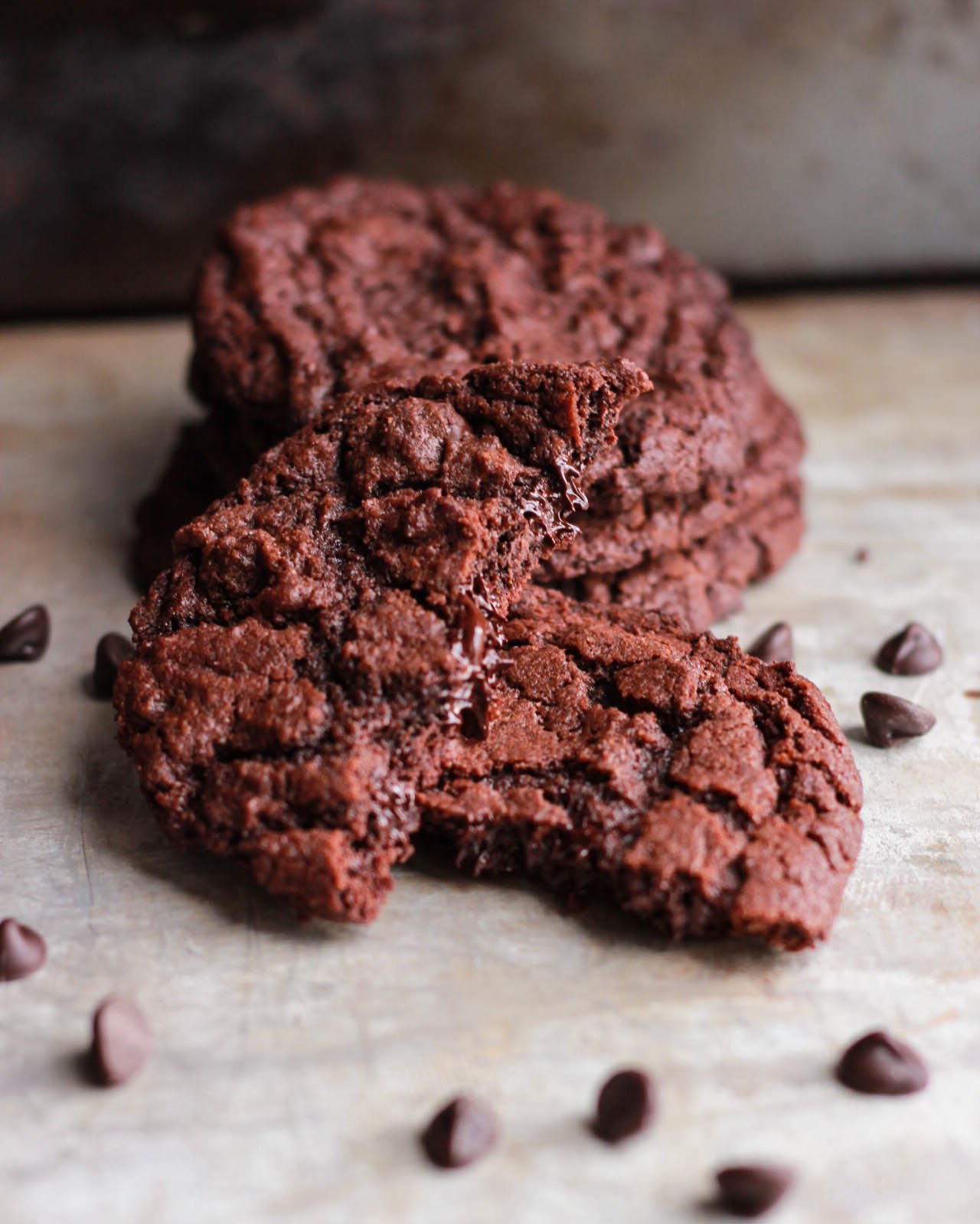 Double Chocolate Chip Cookies - alt