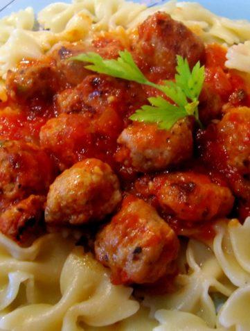 Cheaters Meatballs & Pasta