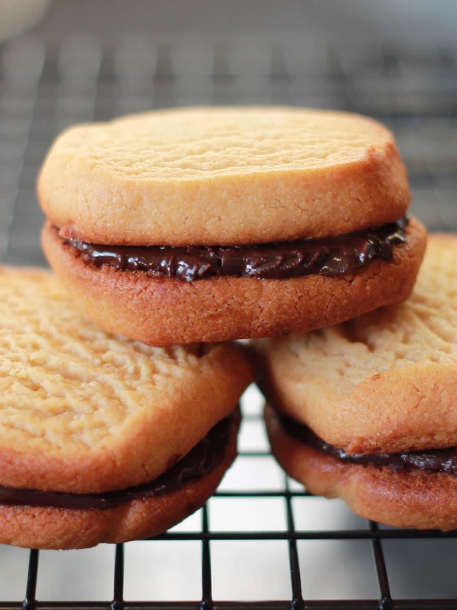 Peanut Butter & Chocolate Sandwich Cookies
