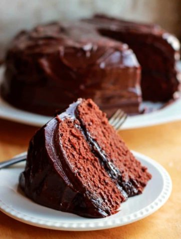 Classic Devils Food Cake with Ganache Frosting