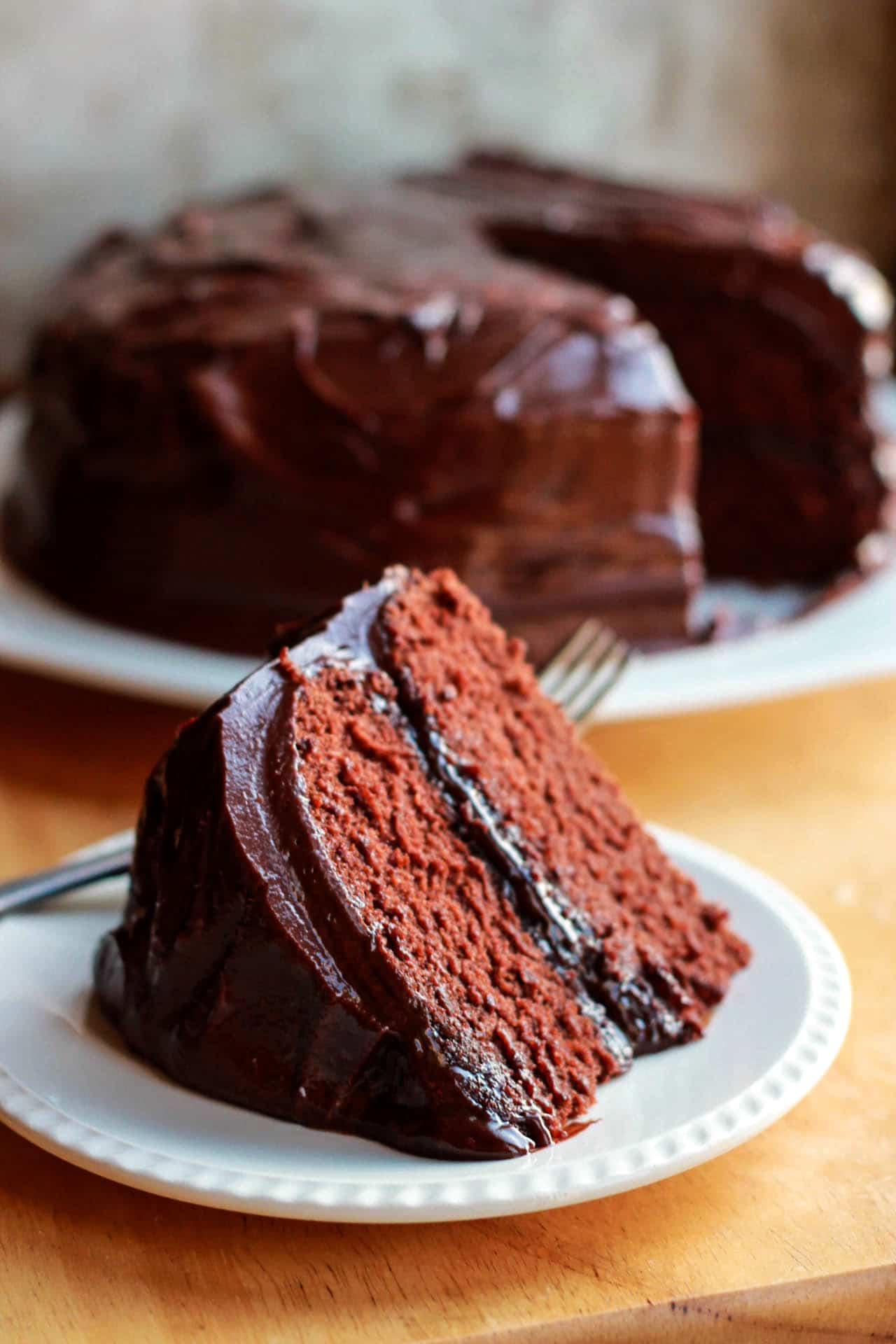 Classic Devils Food Cake makes a light & airy, moist chocolate cake ...