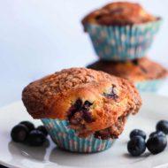 Blueberry Crumb Cake Muffins