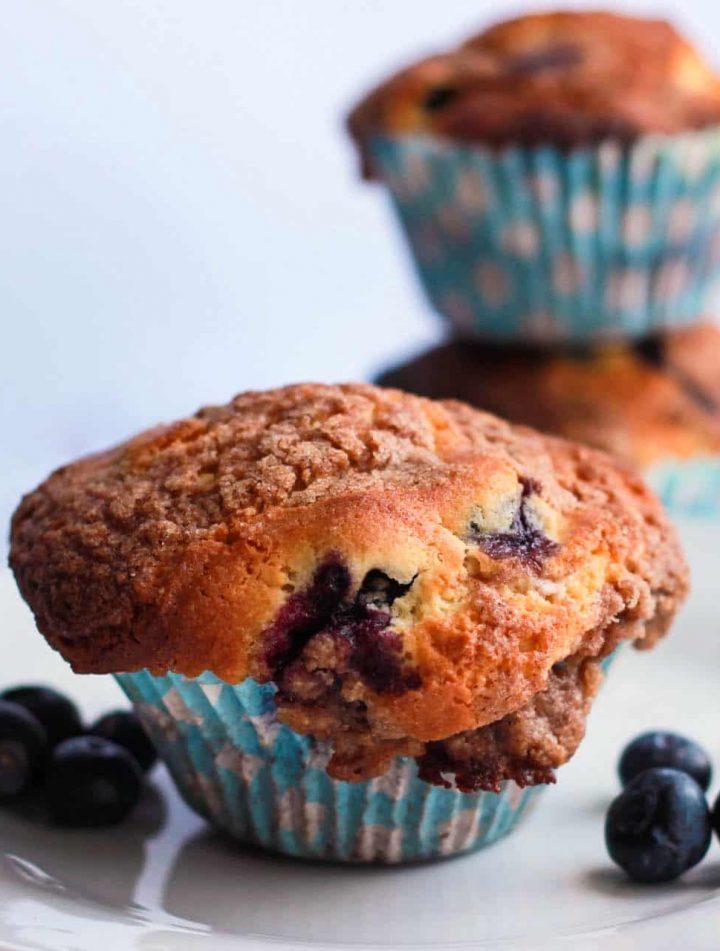 Blueberry Crumb Cake Muffins - alt