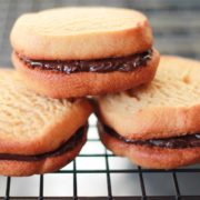 Peanut Butter & Chocolate Sandwich Cookies - alt