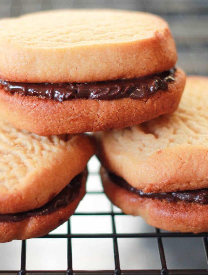 Peanut Butter & Chocolate Sandwich Cookies - alt