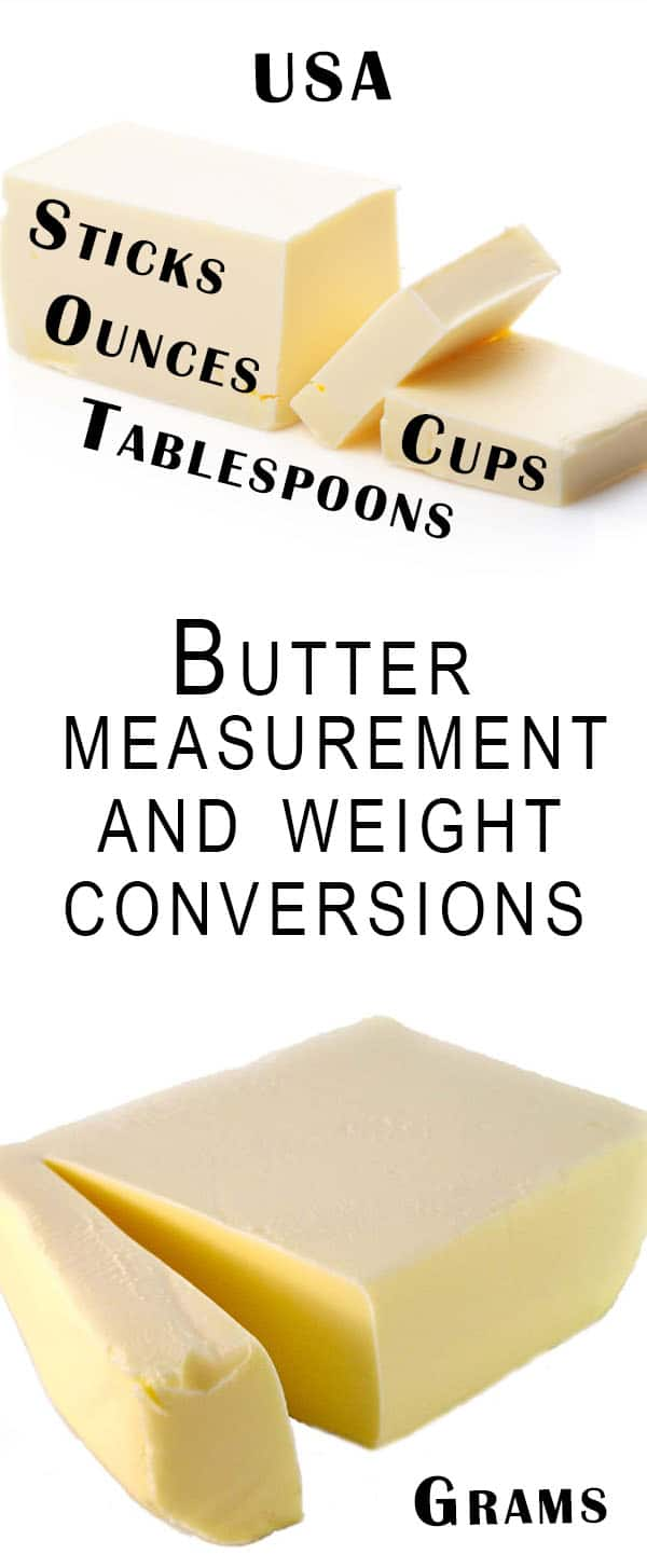 Butter measurement conversion charts errens kitchen butter measurement and weight conversions errens kitchen us oz cups tablespoons nvjuhfo Images