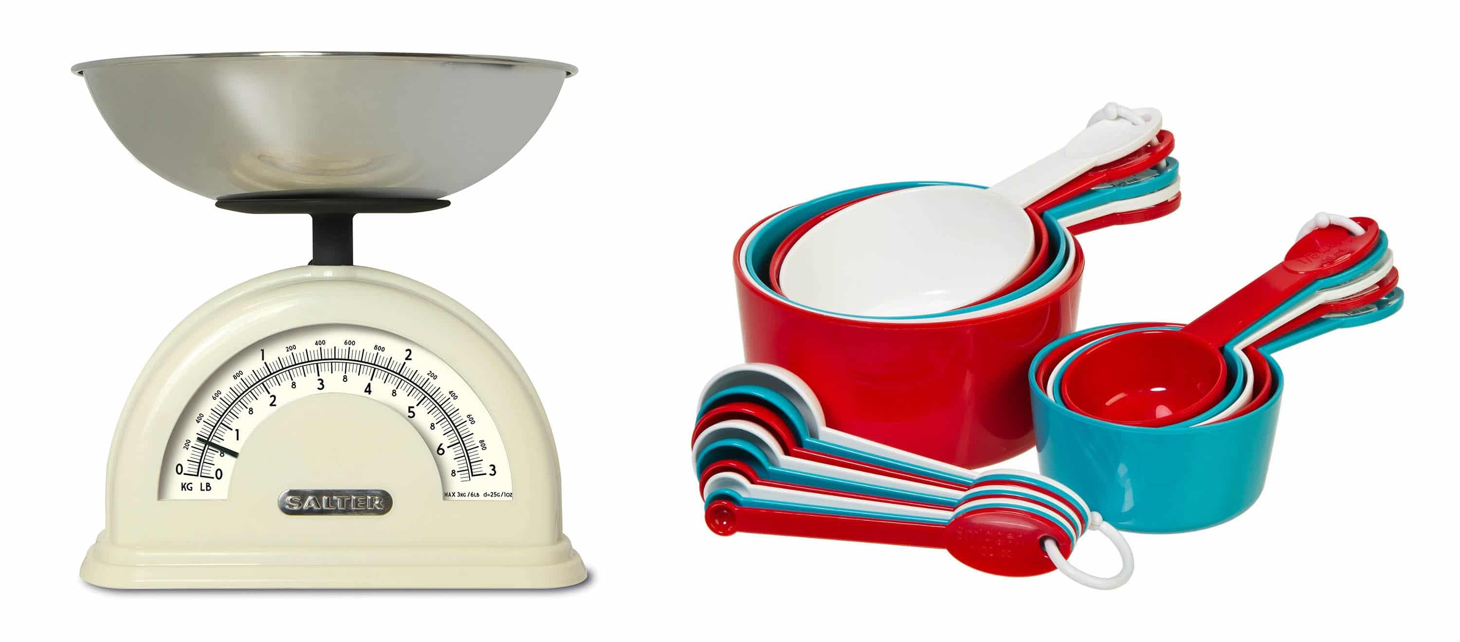 Weighing scales and measuring cups