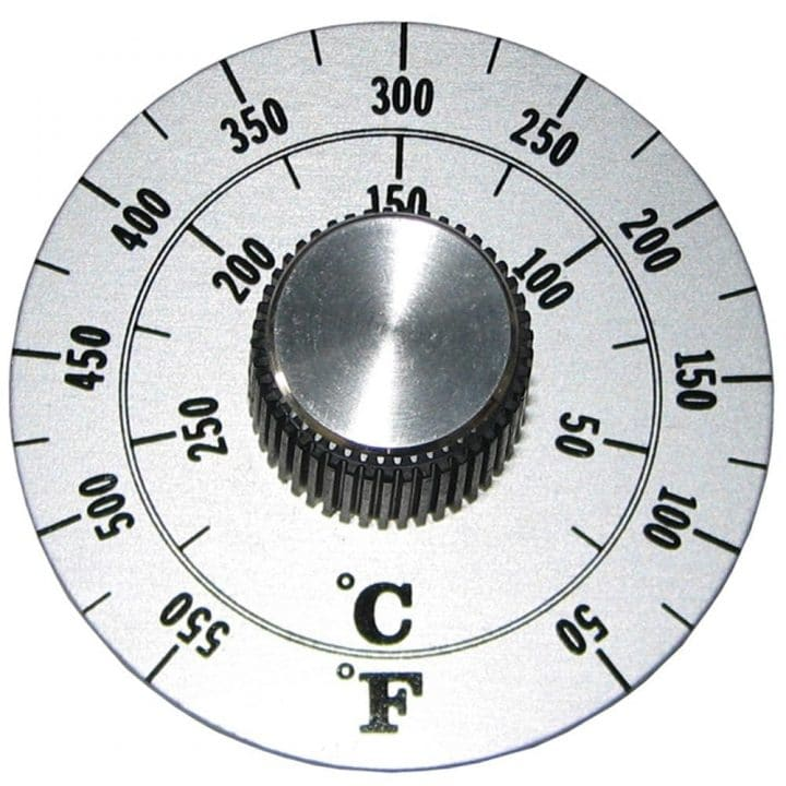 Fahrenheit Celsius oven dial