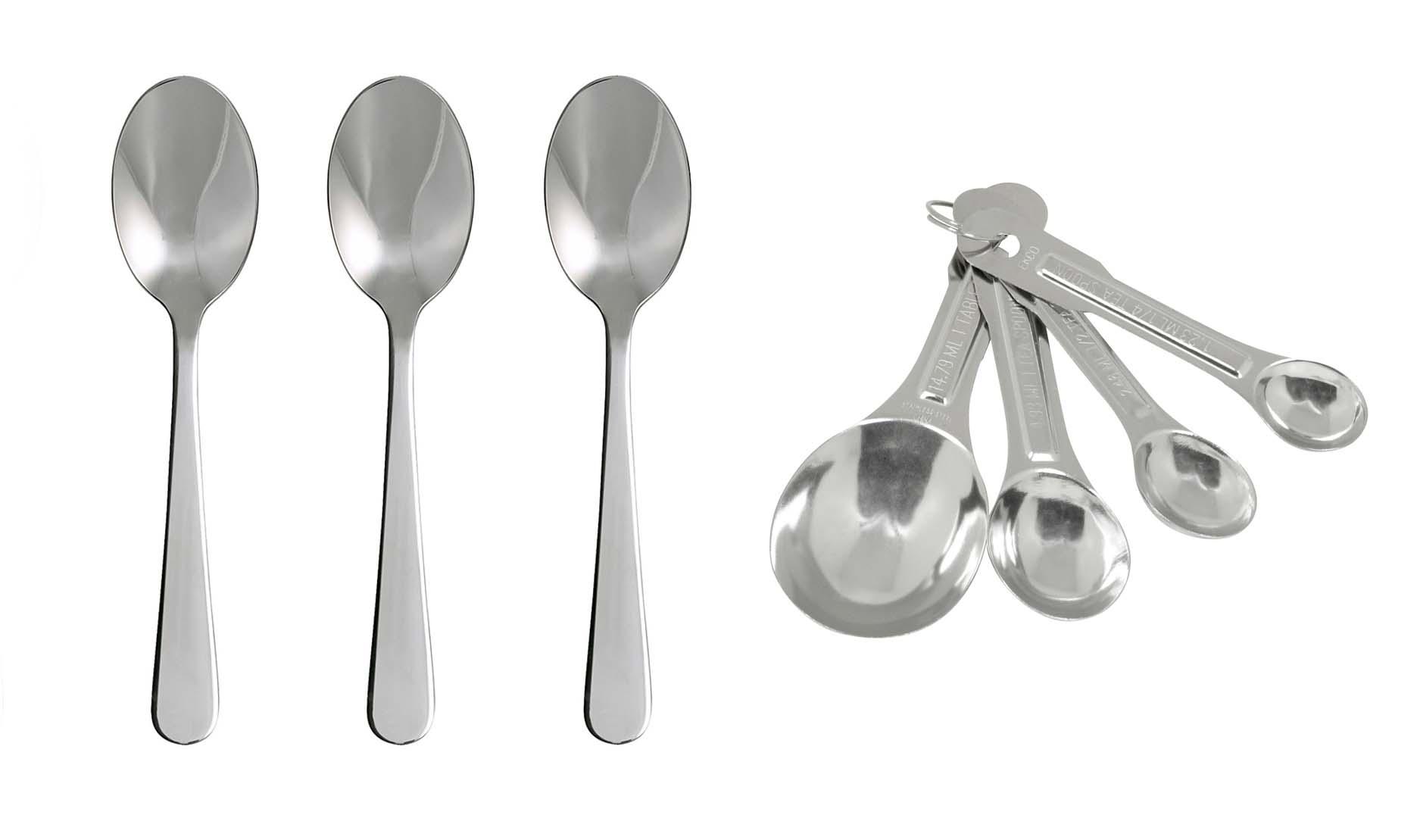 Teaspoons tablespoons dessertspoons erren 39 s kitchen for 1 table spoon grams