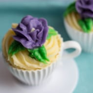 Yellow Cupcakes with Butter Frosting