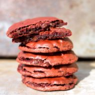 Flourless Red Velvet Cookies
