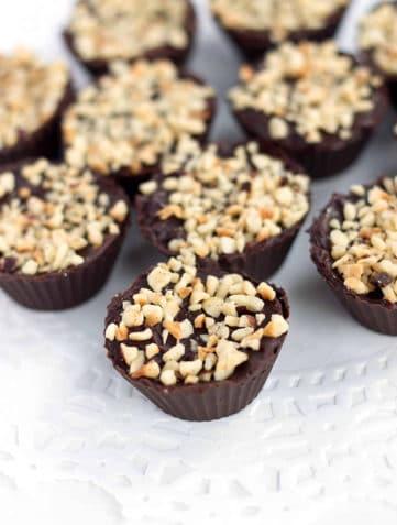 Chocolate Hazelnut Truffle Cups