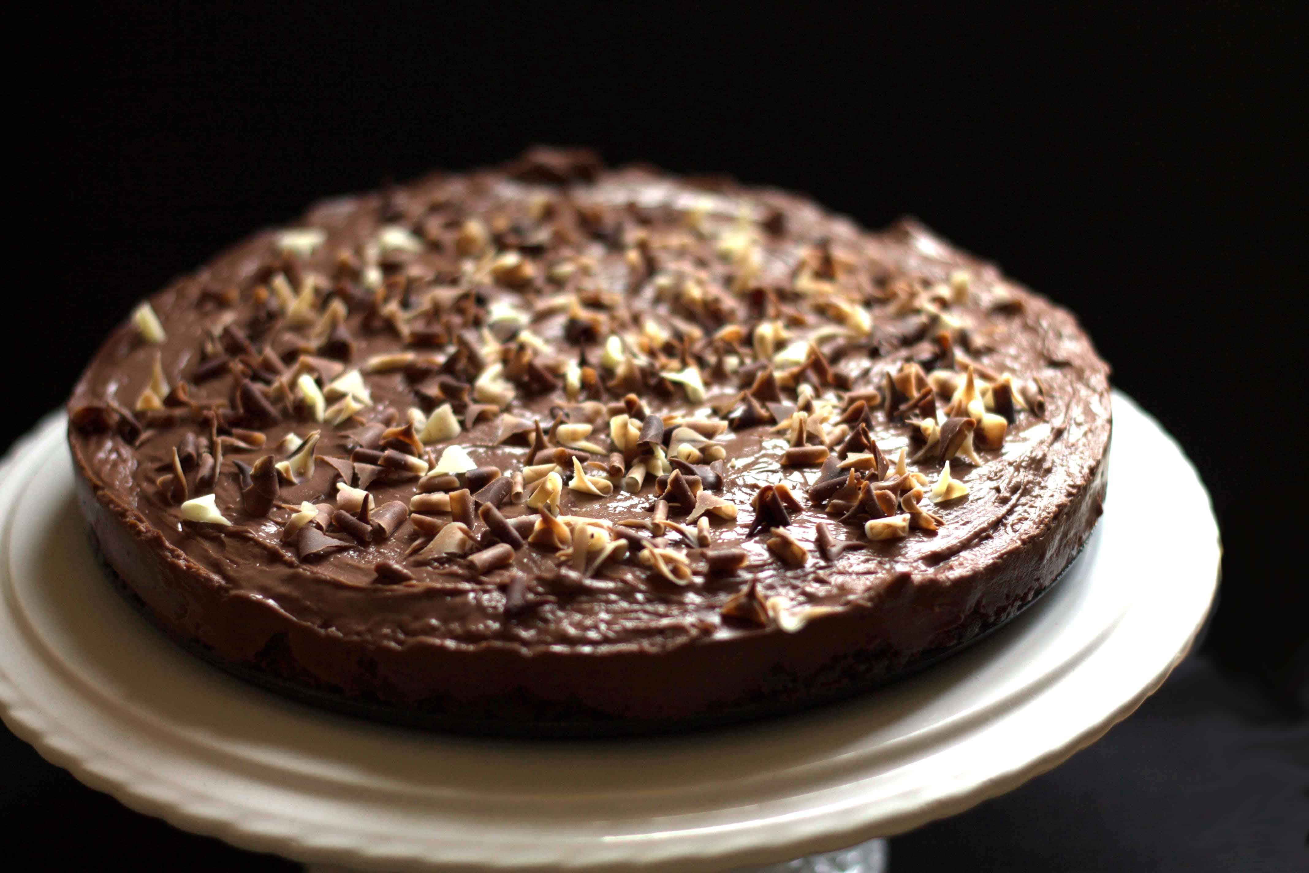 Rich & Creamy No Bake Chocolate Torte - Erren's Kitchen
