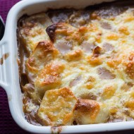 Cottage Pie Topped with Scalloped Potato Gratin