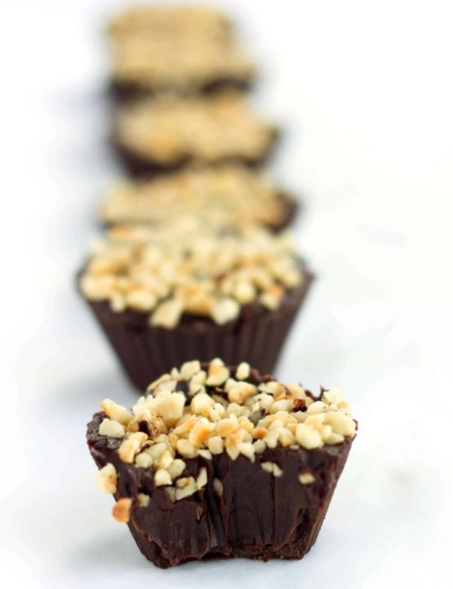 hazelnut chocolate truffle cups cups