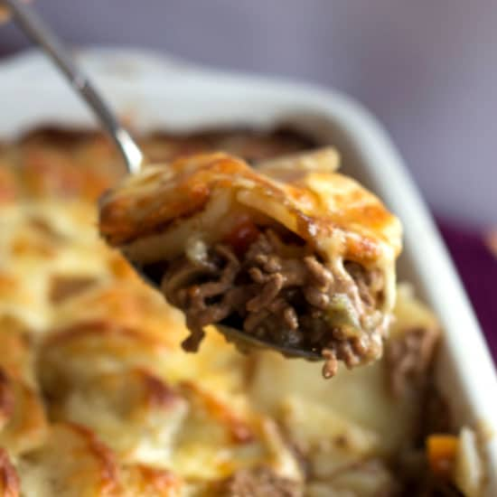 Cottage Pie Topped With Scalloped Potato Gratin Erren S