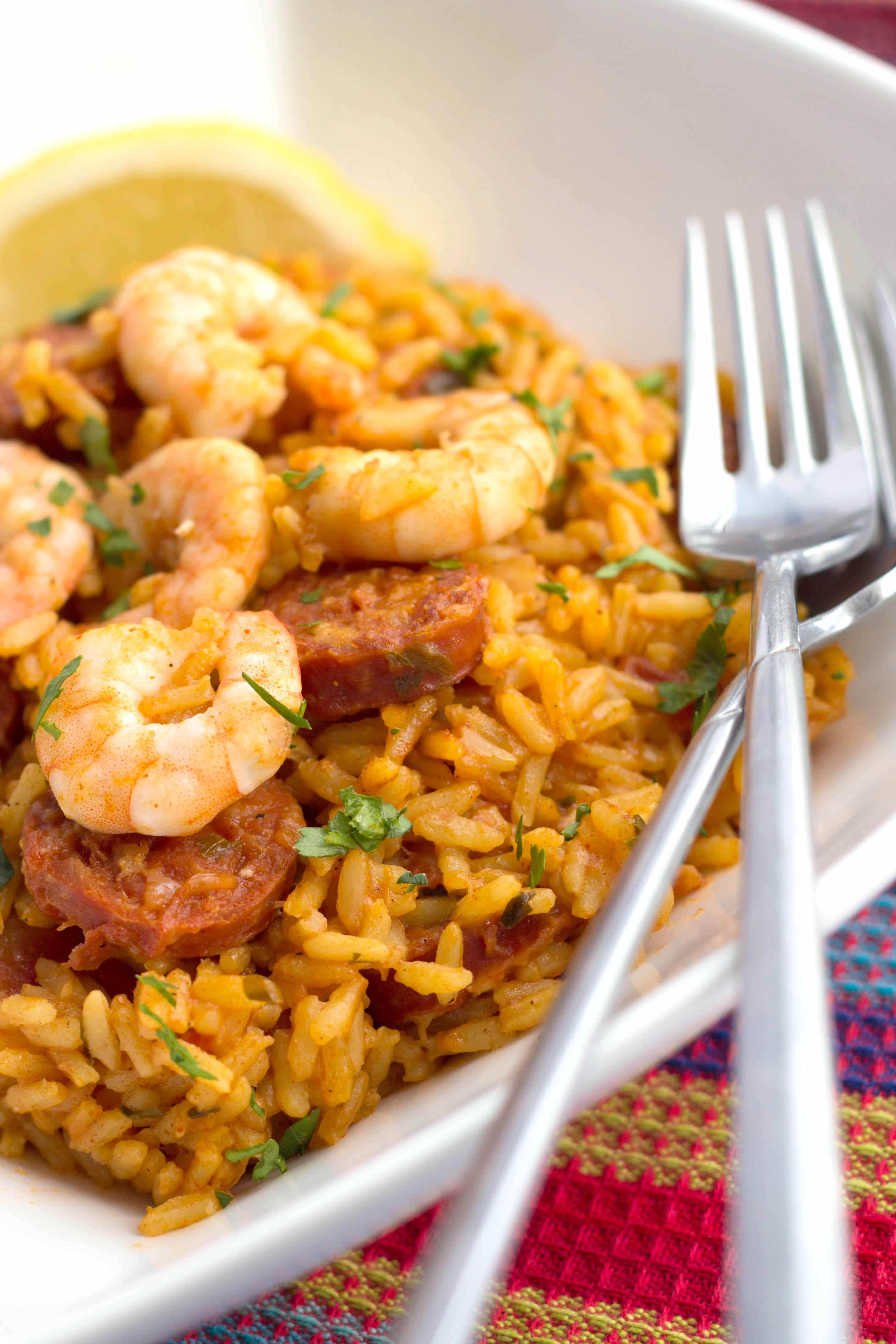 Shrimp and Chorizo Rice