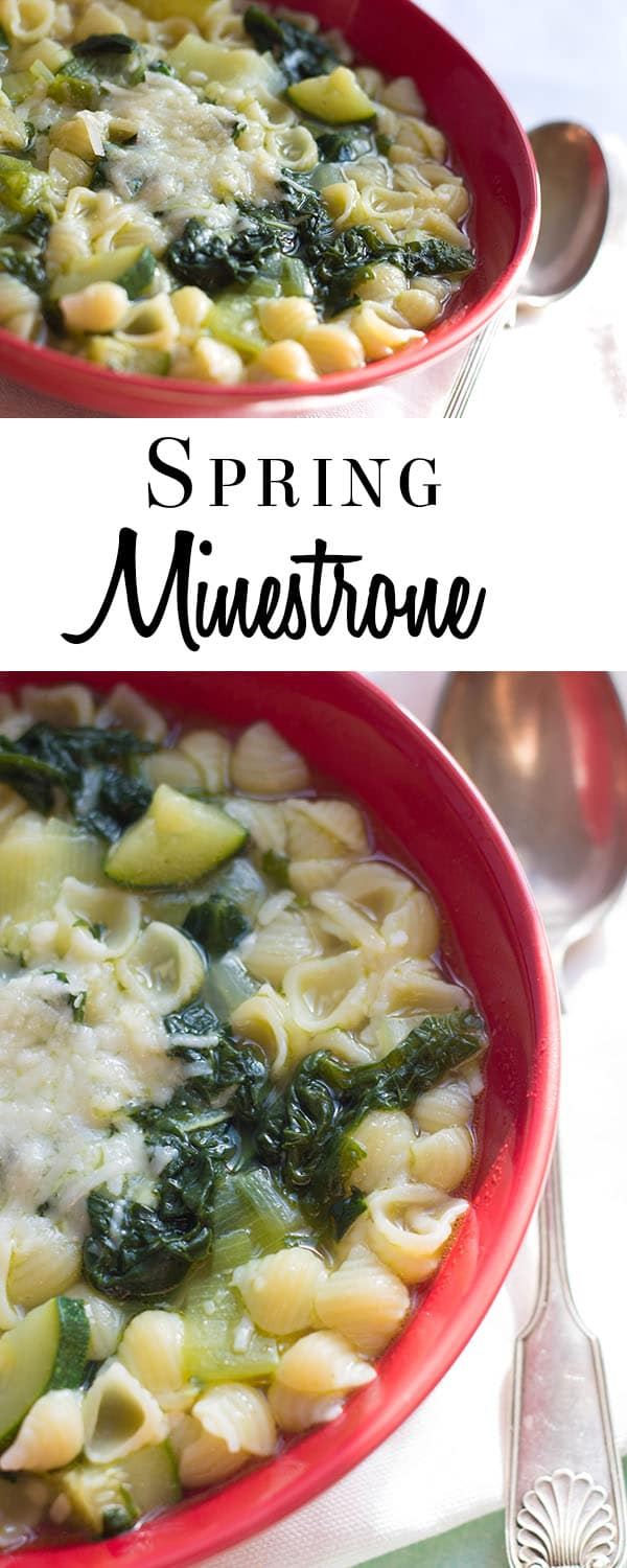 This recipe from Erren's Kitchen for Spring Minestrone soup is simple and flavorful soup makes the most of Springtime vegetables.