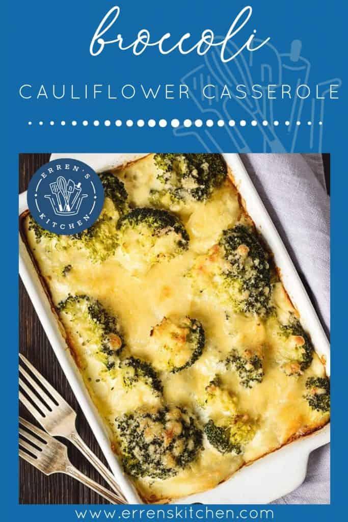 Broccoli Cauliflower Casserole ready to eat