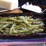 My Garlic Roasted Green Beans recipe that was inspired by this dish