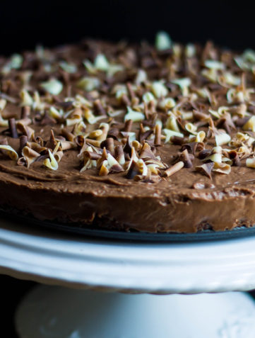 Rich & Creamy No Bake Chocolate Torte