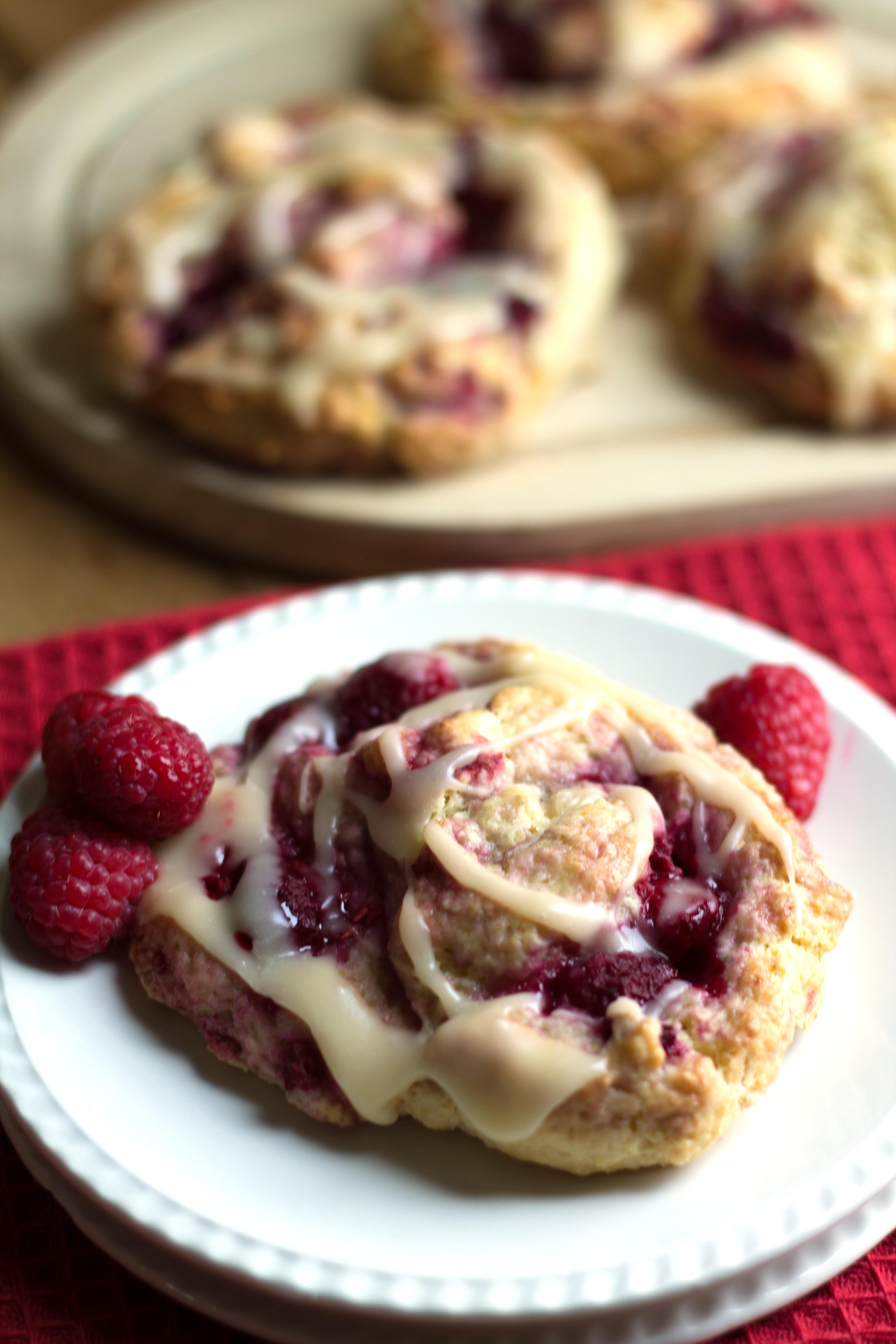 iced raspberry scones