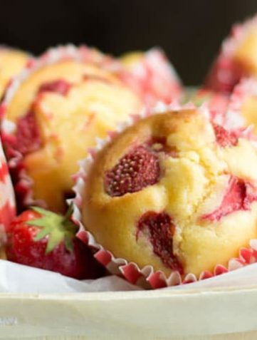 Strawberry Honey Cornbread Muffins