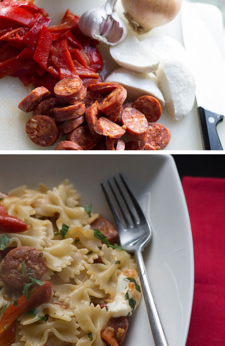 Chorizo & Roasted Red Pepper Pasta
