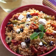 10 Minute Greek Style Couscous Salad
