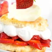 strawberry shortcake assembled ready to eat