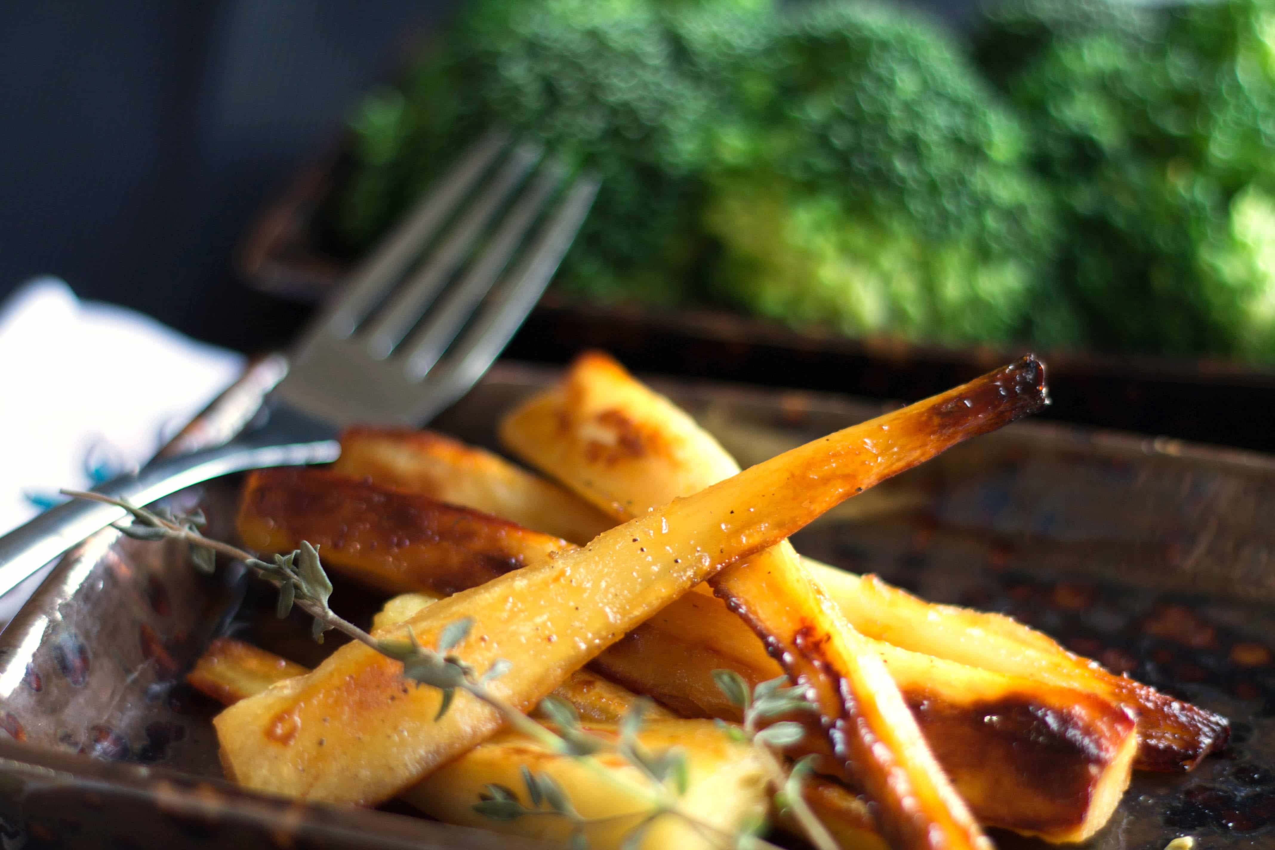 This recipe for Honey & Maple Roasted Parsnips makes the perfect side ...