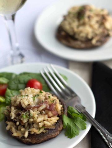 Risotto Stuffed Mushrooms