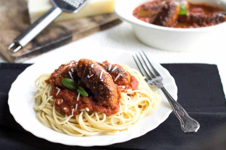 Spaghetti and Sausage Ragu