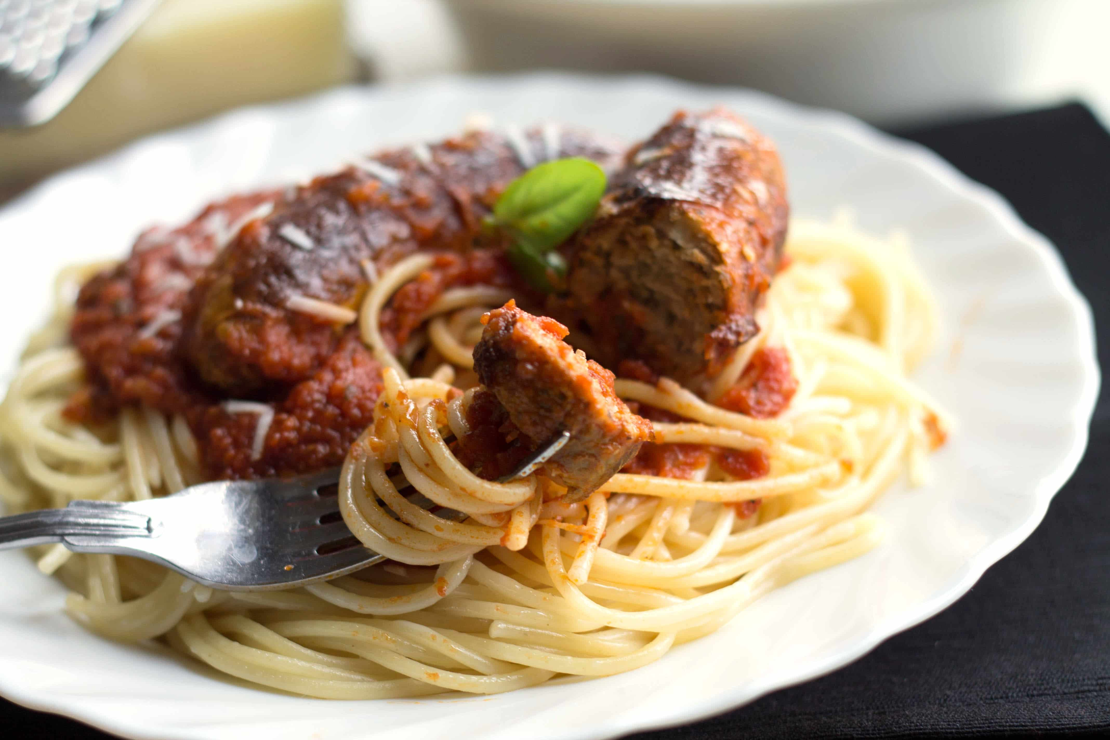 Spaghetti and Sausage Ragu