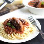 Spaghetti and Sausage Ragu Sauce