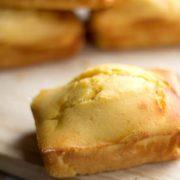 close up of a sweet cornbread mini loaf