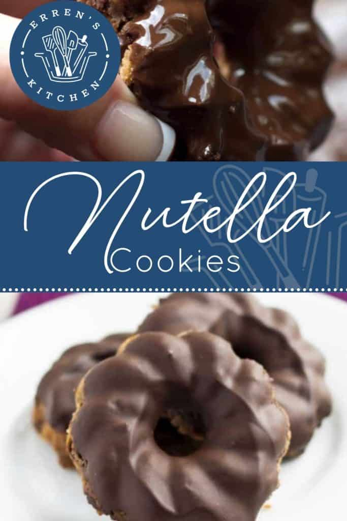 nutella cookies on a plate ready to eat