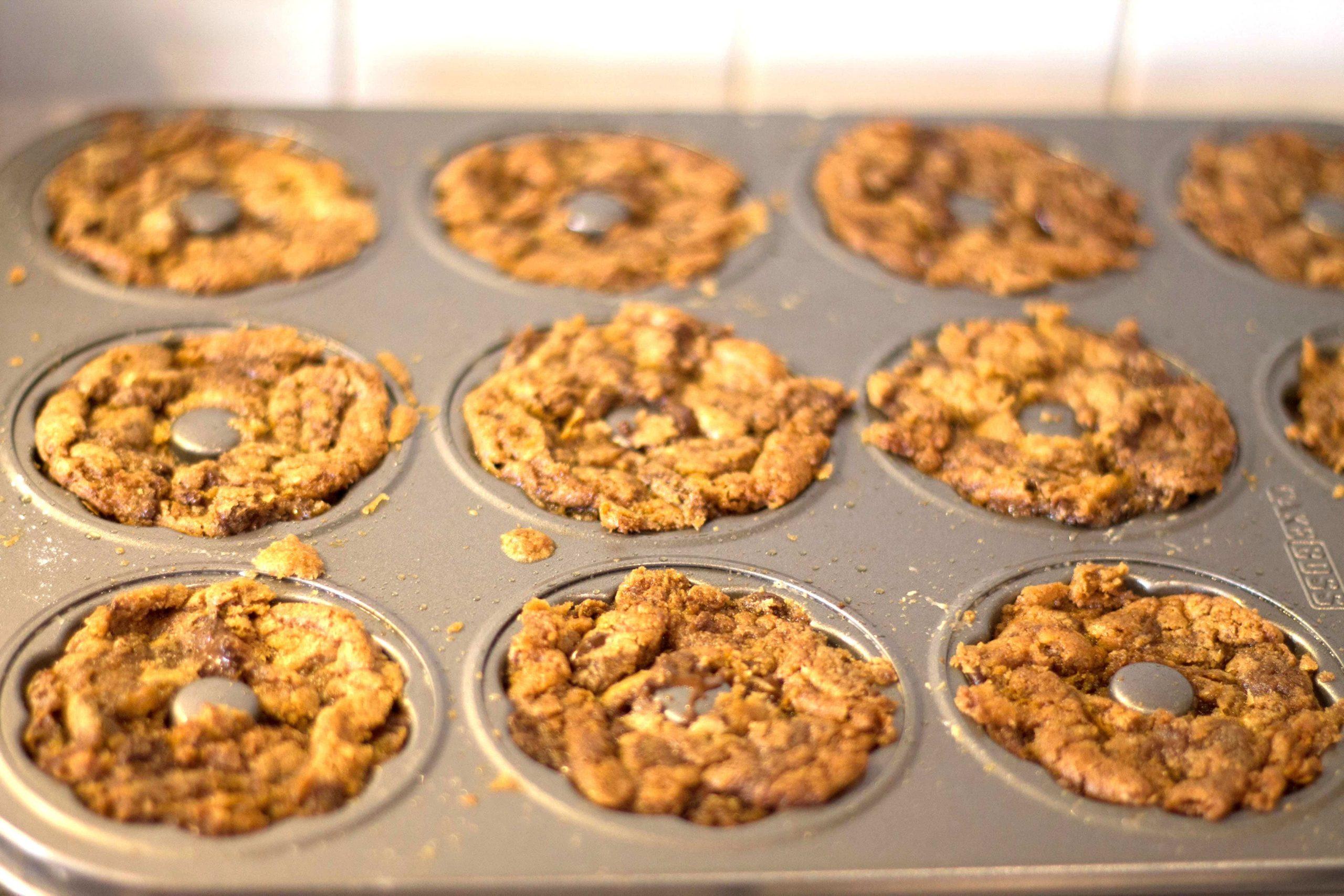 cookie batter in molded cookie pan