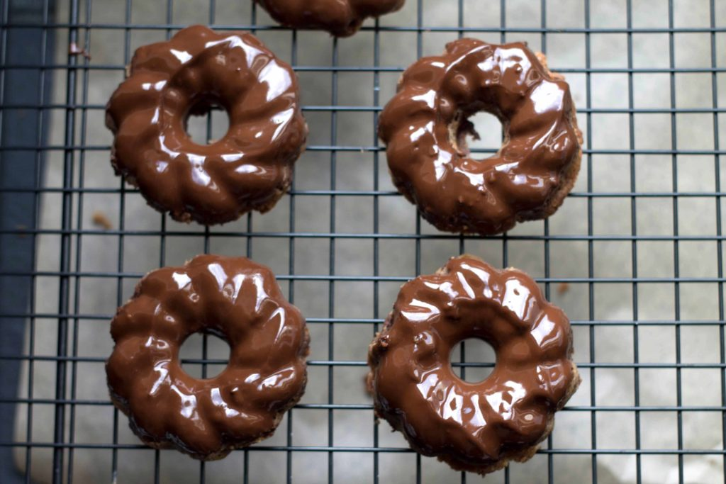 Nutella cookies with melted chocolate