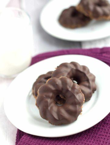 Chewy Chocolate Hazelnut Cookies