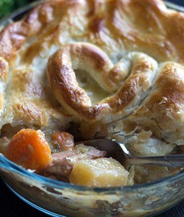 Chicken, Ham & Leek Pot Pie