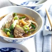 A bowl of Chinese beef noodle soup