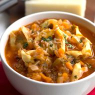 Quick & Hearty Tortellini Vegetable Soup