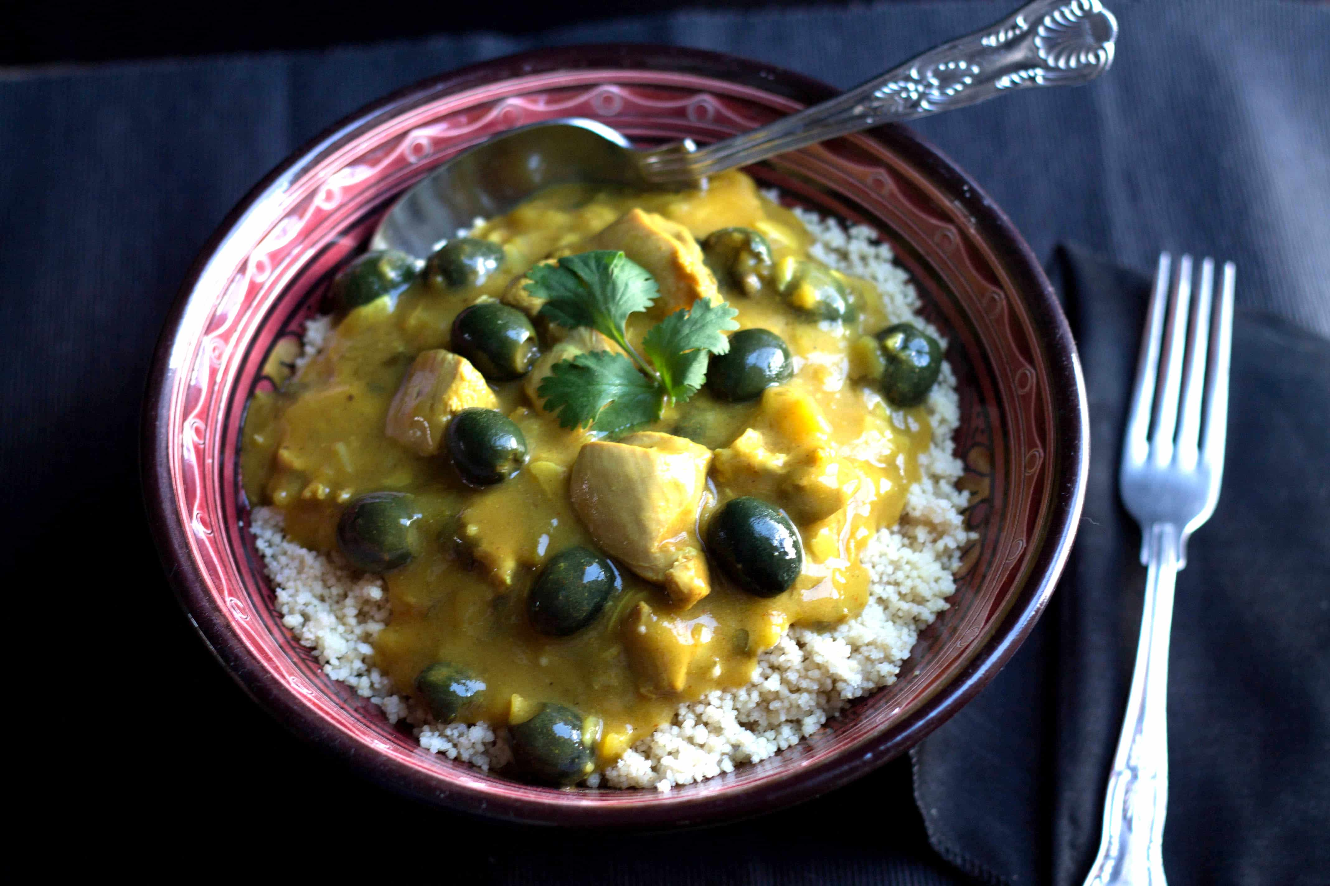 Moroccan Chicken - Erren's Kitchen - This recipe is a tasty, aromatic dish with many levels of flavor . Serve it with couscous for a filling, luxurious meal.