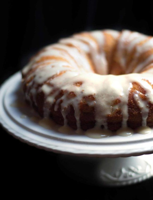 Easy Banana Cake - Erren's Kitchen - This easy recipe is great for using up over ripe bananas in the fruit bowl. This delectable cake is incredibly moist and takes no time at all to throw together.