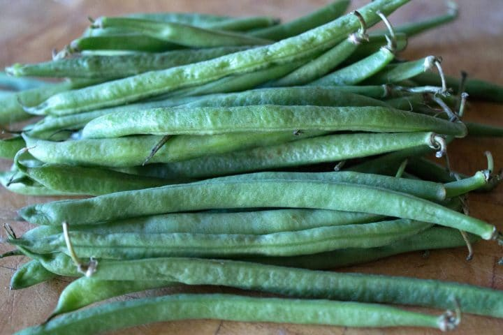 A close up of a bunch of fresh Green Beans