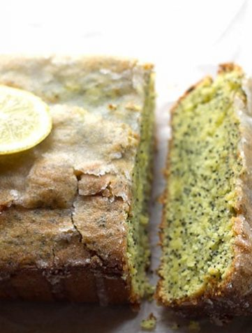 Glazed Lemon Poppy Seed Loaf Cake