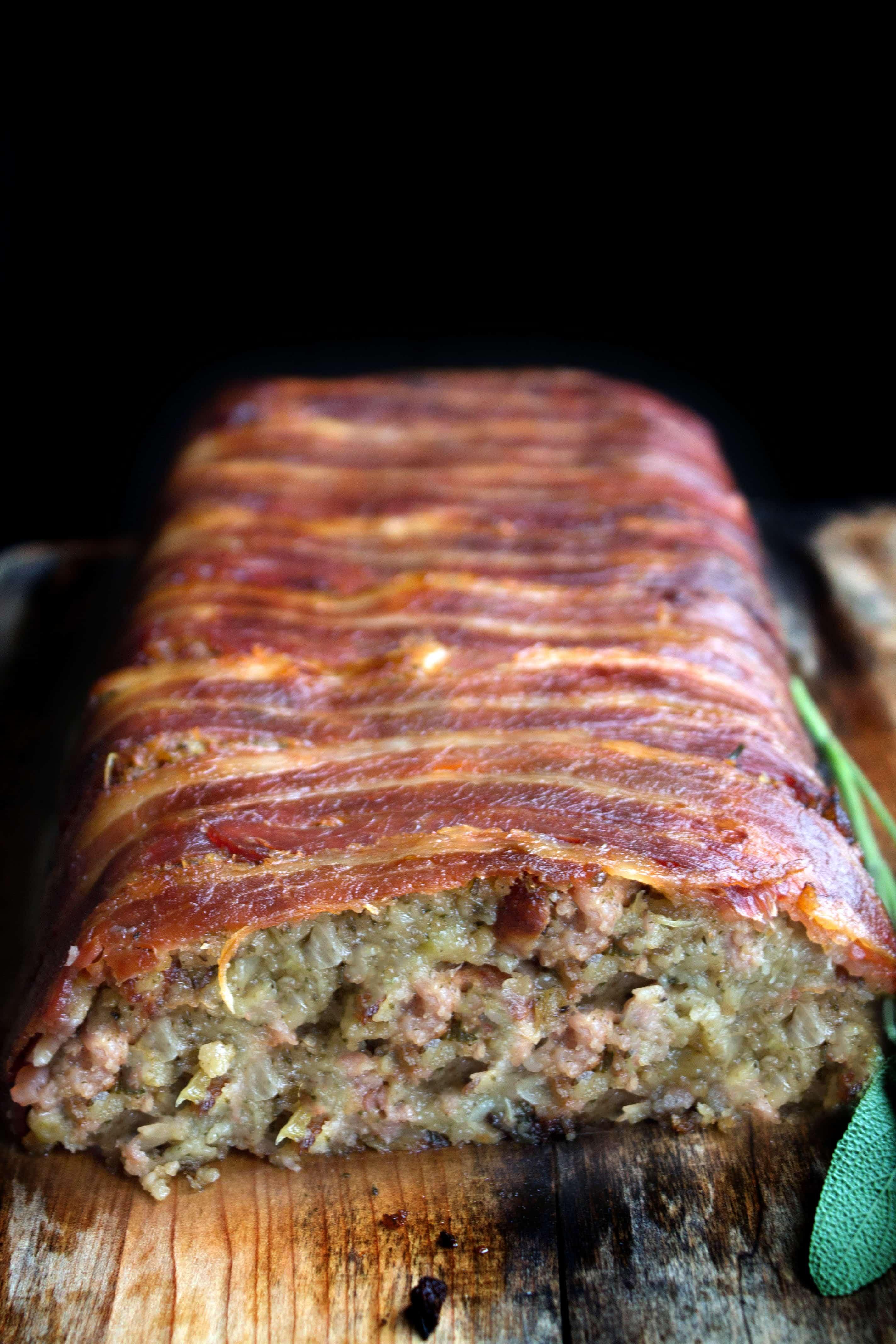Bacon Wrapped Sage Amp Sausage Stuffing Erren S Kitchen