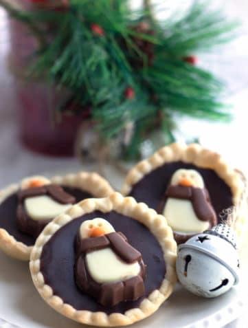 Dark Chocolate Ganache Tarts